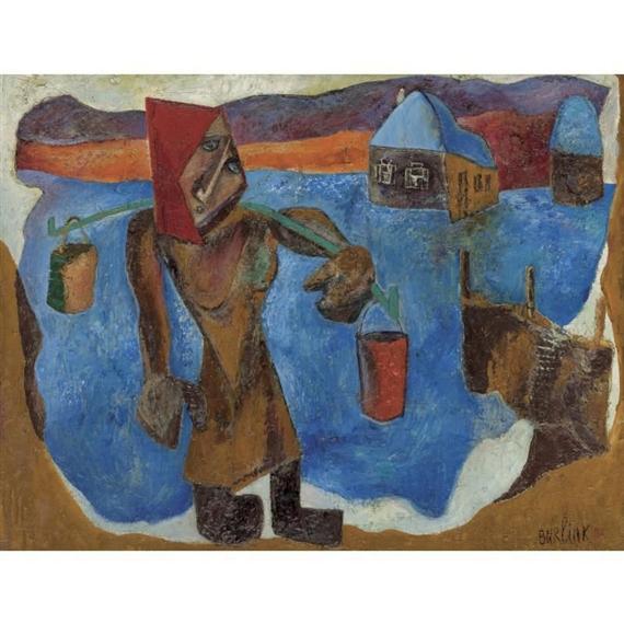 В сибирском селе, 1931 - Давид Бурлюк