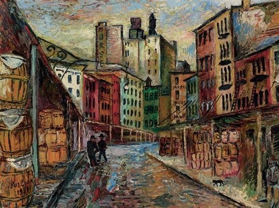 Вашингтонсикй рынок, 1931 - Давид Бурлюк