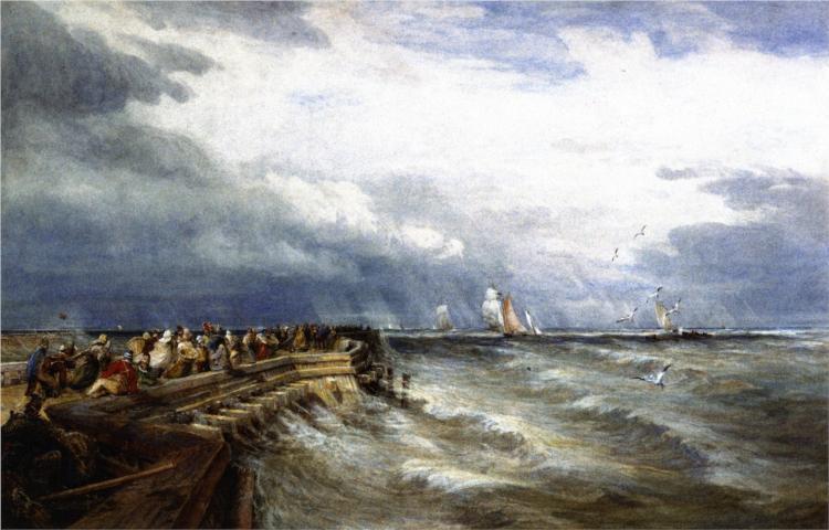 Calais Pier - David Cox