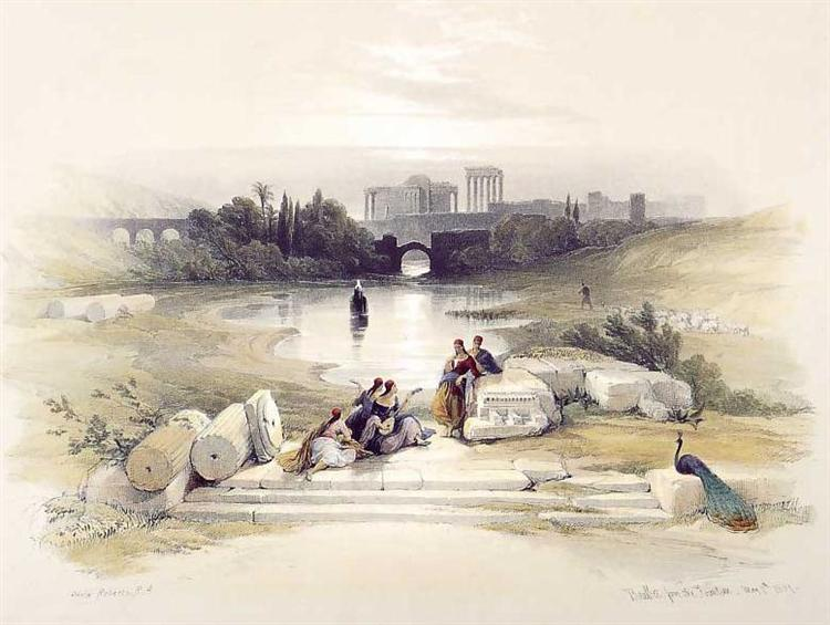 Baalbec, from the Fountain, 1847 - David Roberts