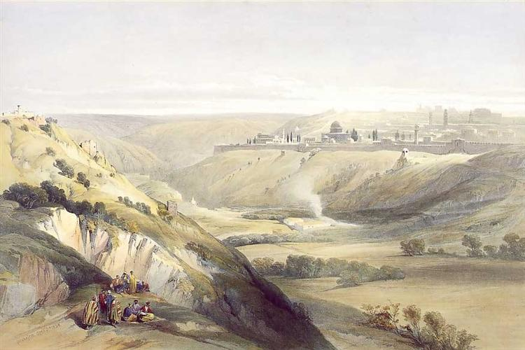 Jerusalem from the Mount of Olives, 1847 - David Roberts