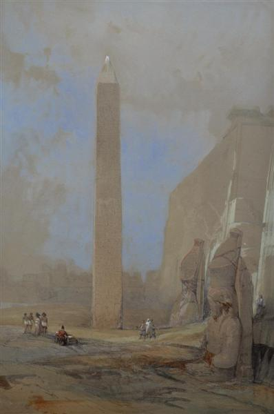 Obelisk at Luxor, 1838 - David Roberts