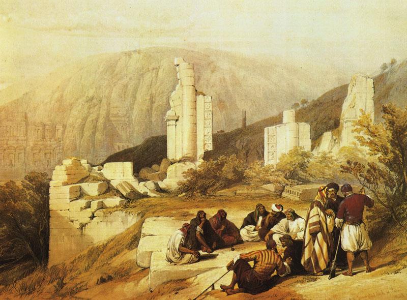 Petra. Ruins of a Triumphal Arch