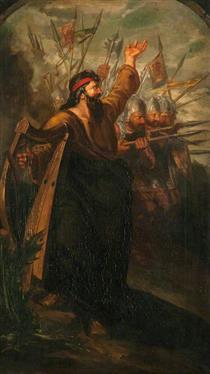 Scottish War. The Spear (triptych,  left panel) - Девід Ск�тт
