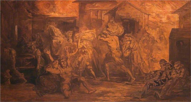 The Fire of London, 1843 - David Scott