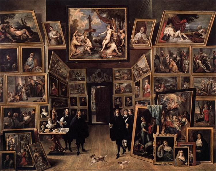 The Archduke Leopold Wilhelm in his Picture Gallery in Brussels, c.1647 - David Teniers the Younger