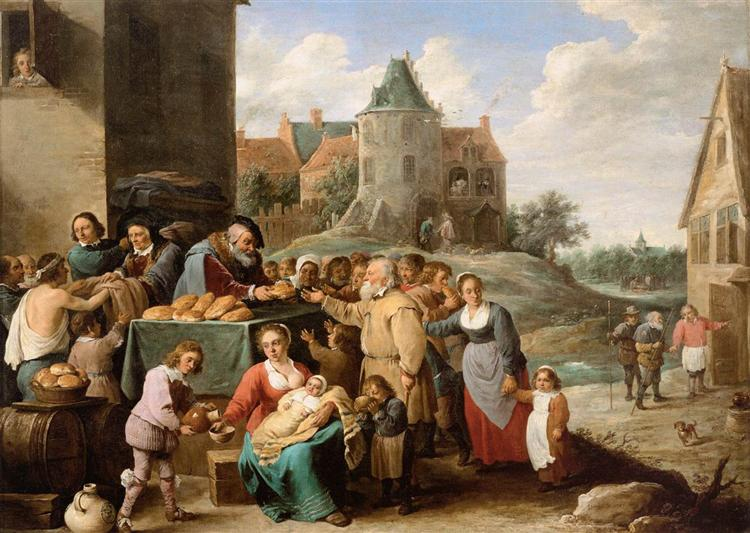 The Works of Mercy, c.1645 - David Teniers the Younger
