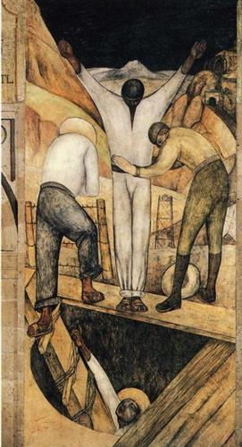 Exit from the Mine - Diego Rivera