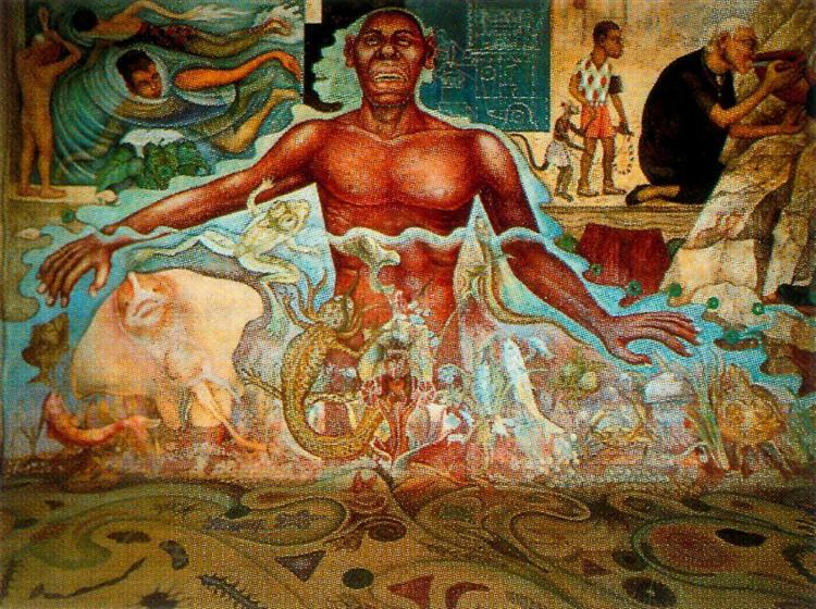 Figure Symbolizing the African Race, 1951 - Diego Rivera