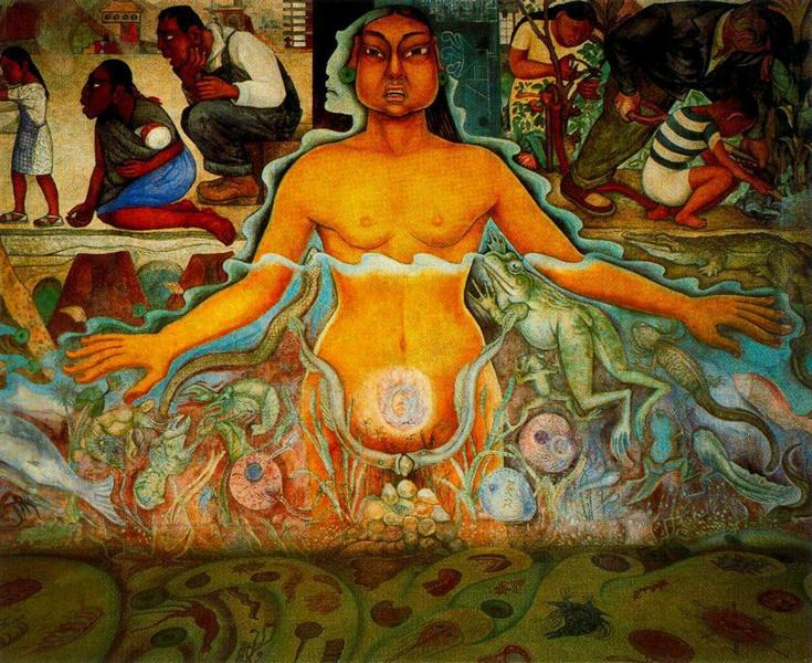 Figure Symbolizing the Asiatic Race, 1951 - Diego Rivera