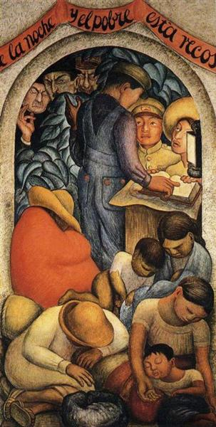 Night of the Poor, 1928 - Diego Rivera