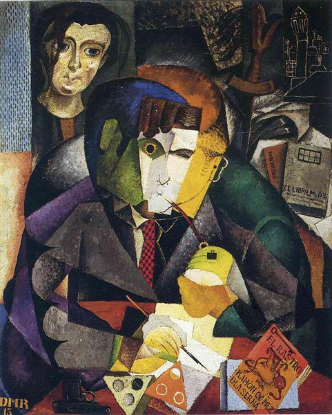 Portrait of Ramon Gomez de la Serna, 1915 - Diego Rivera