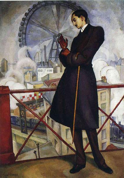 Portrait of the Adolfo Best Maugard, 1913 - Диего Ривера