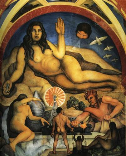 The Liberated Earth with The Powers of Nature Controlled by Man - Diego Rivera