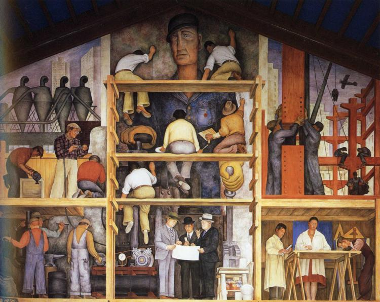 The Making of a Fresco, Showing The Building of a City, 1931 - Diego Rivera