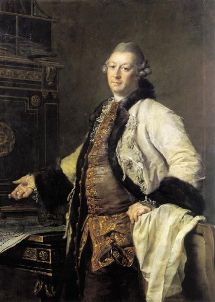 Portrait of Alexander Kokorinov, Director and First Rector of the Academy of Arts in St. Petersburg. - Dmitry Levitzky