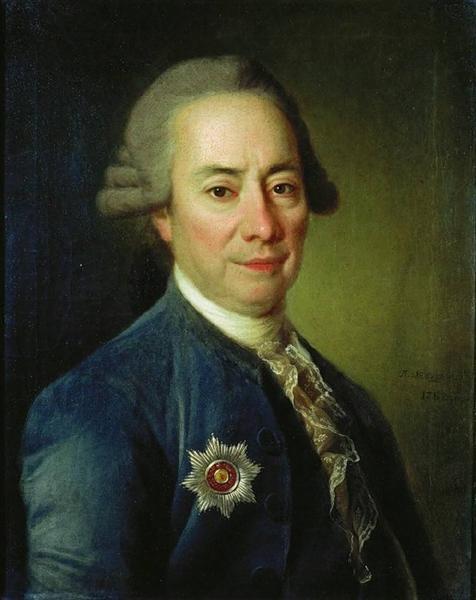 Portrait of P. V. Bakunin, 1782 - Dmitry Levitzky
