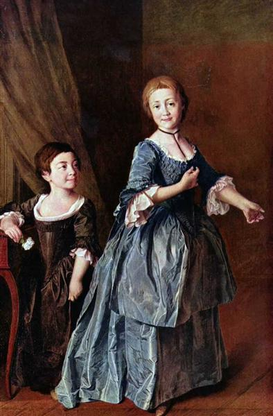 Portrait of princesses Davydova and Rzhevskaya, c.1772 - Dmitry Levitzky