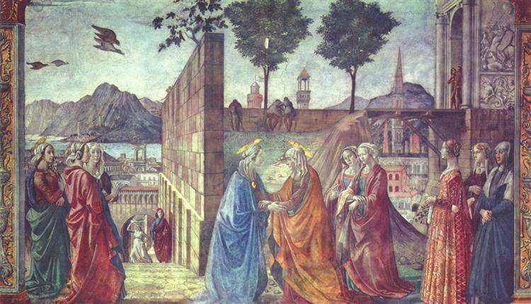 The Visitation, c.1490 - Domenico Ghirlandaio