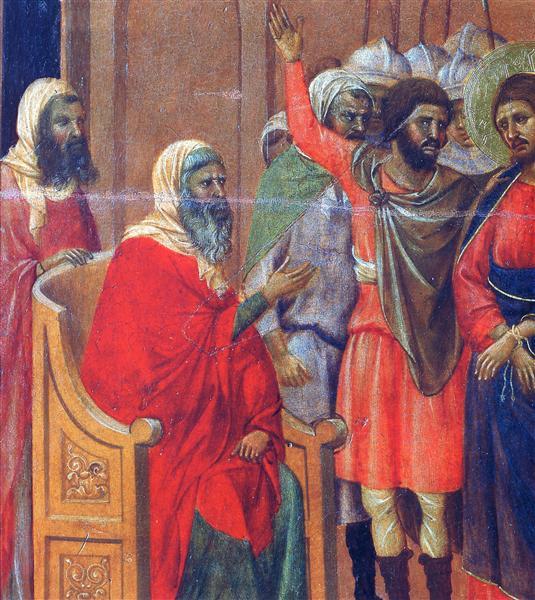 Christ in front of Anna (Fragment), 1308 - 1311 - Duccio