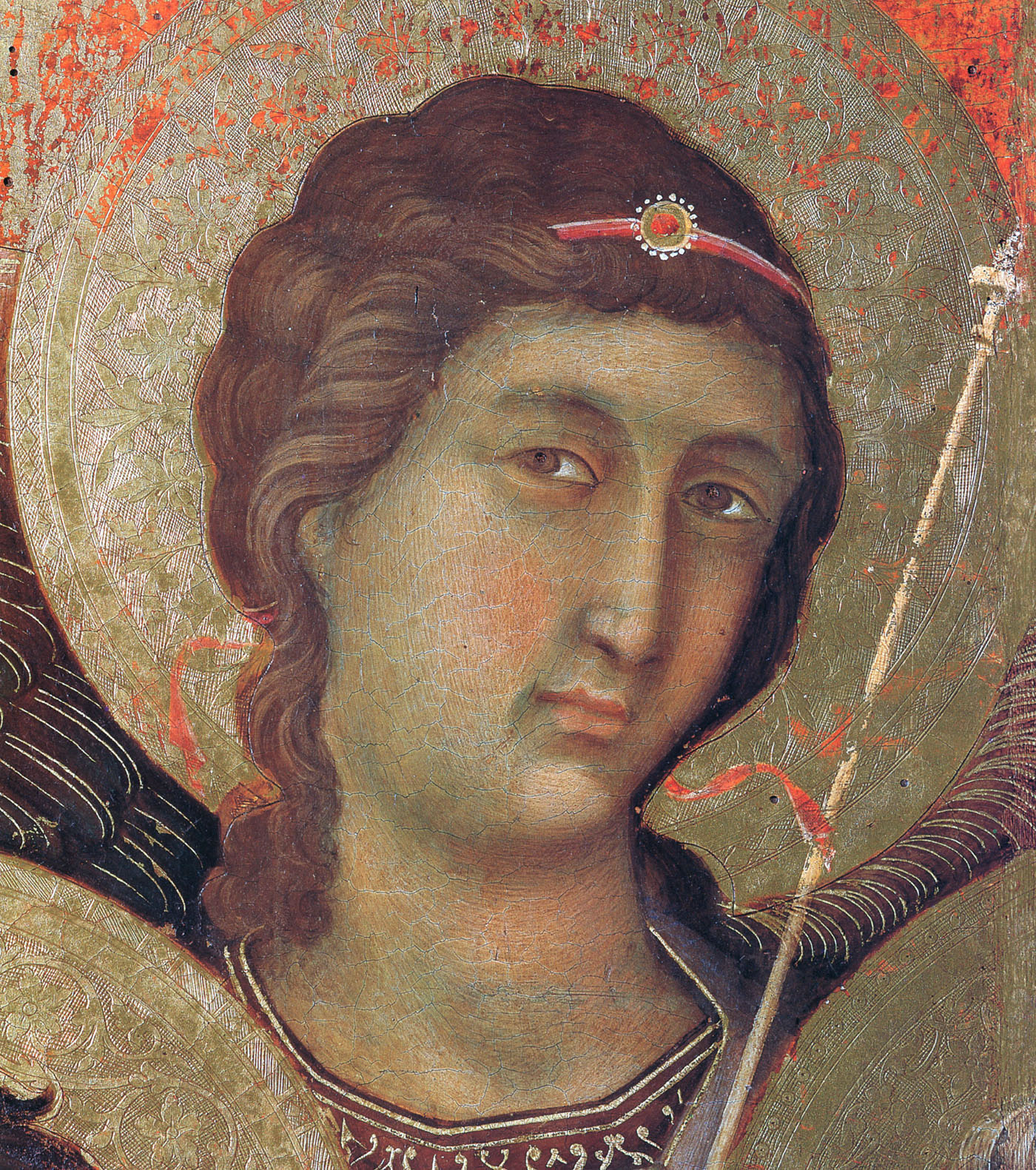 Madonna and Child on a throne (Front side fragment) - Duccio - WikiArt ...