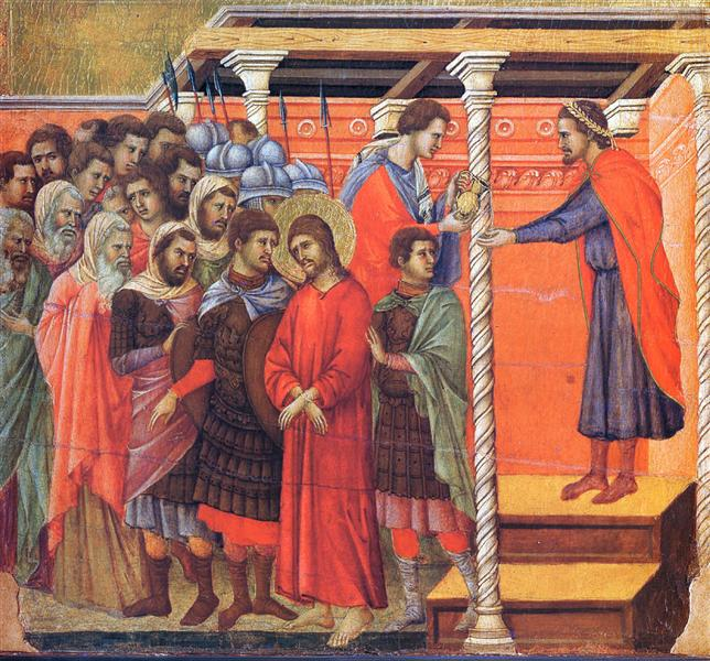 Pilate washes his hands, 1308 - 1311 - Duccio
