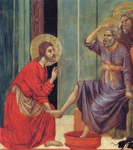 Washing of feet (Fragment) - Duccio