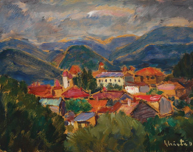 Village Among Mountains - Dumitru Ghiatza