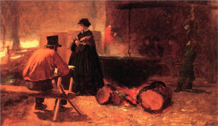 Sugar Camp - Eastman Johnson