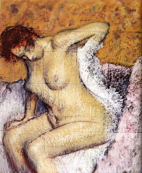 After The Bath, 1895 - Edgar Degas