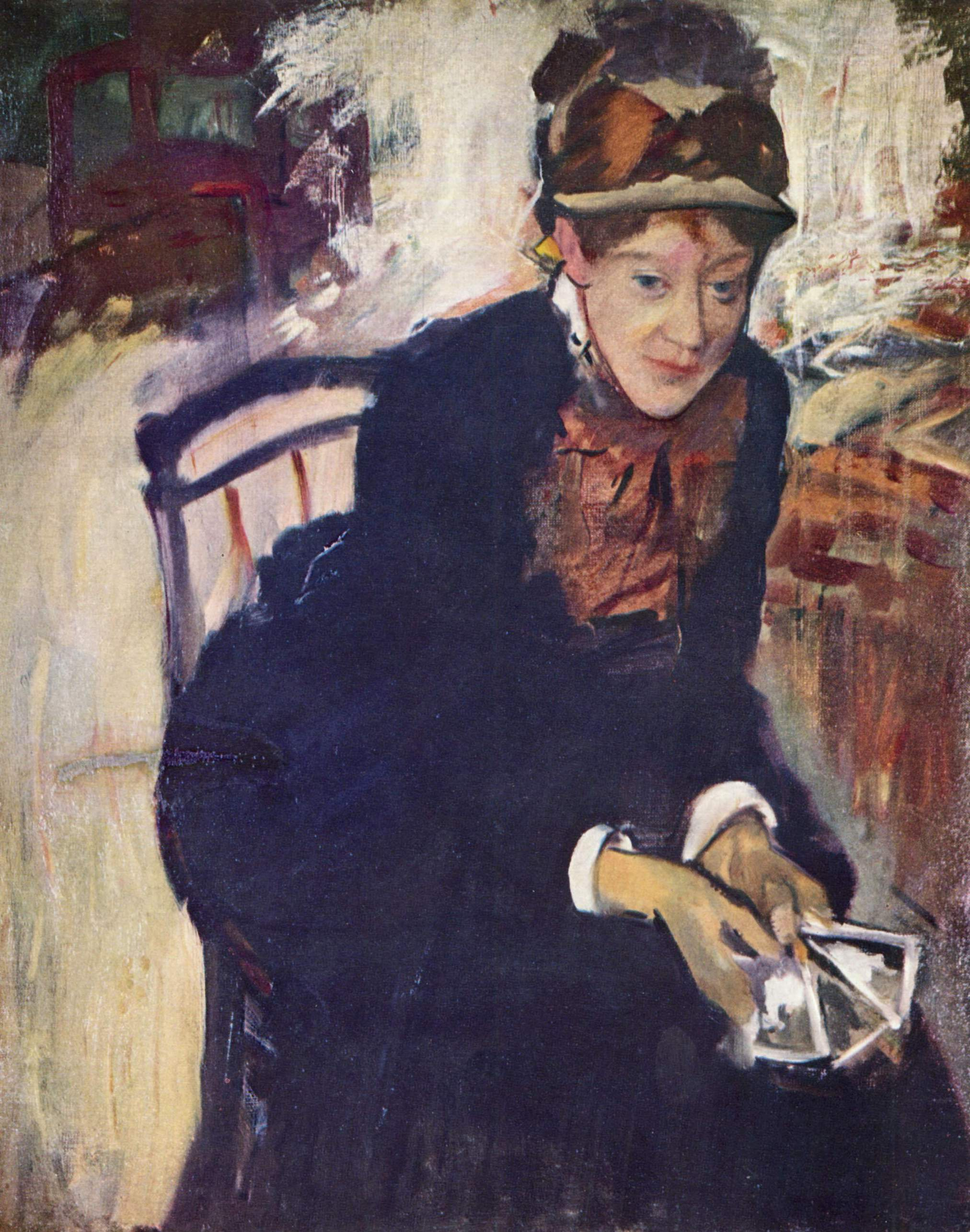 Portrait of Mary Cassatt, c.1880 - c.1884 - Edgar Degas ...