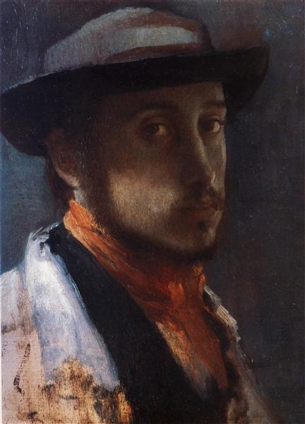 Self Portrait in a Soft Hat, 1858 - Edgar Degas