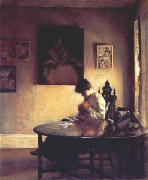 Girl Crotcheting, 1904 - Edmund Charles Tarbell