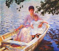 Mother and Child in a Boat - Edmund Charles Tarbell