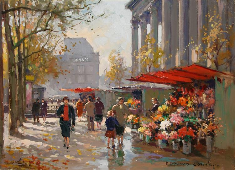 Flower Seller at La Madeleine - Edouard Cortes