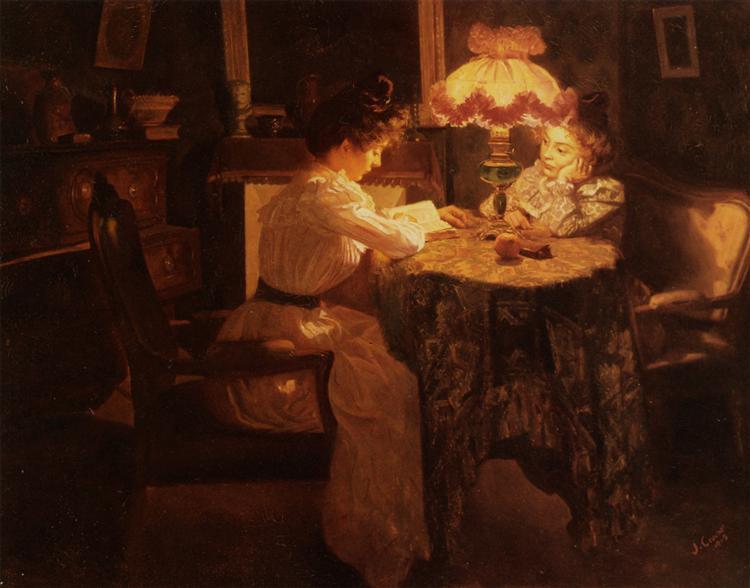 Lamp Effect, 1903 - Edouard Cortes
