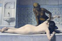 Le Massage au Hamam - Edouard Debat-Ponsan