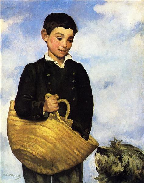 A boy with a dog, 1861 - Edouard Manet