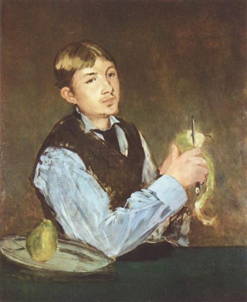 A young man peeling a pear (Portrait Of Leon Leenhoff), 1868 - Edouard Manet