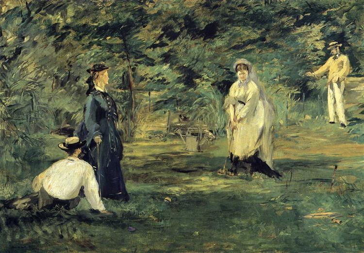 Croquet, 1873 - Edouard Manet