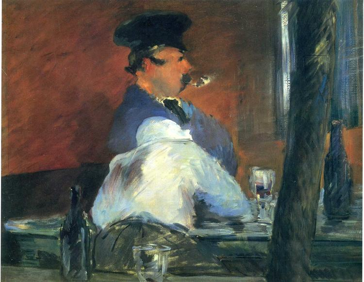 "In the bar ""Le Bouchon"", c.1879 - Edouard Manet"