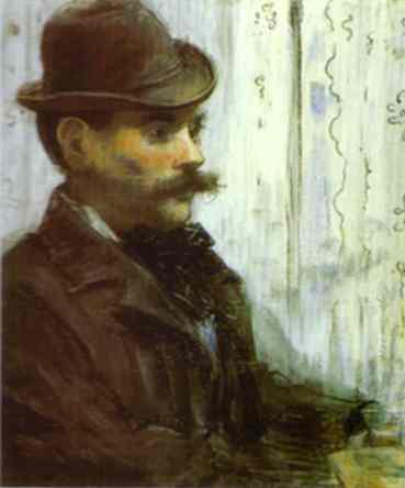 Man in a Round Hat (Alphonse Maureau), 1878 - Edouard Manet