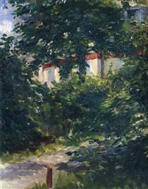 Il giardino intorno alla casa di Manet - Edouard Manet