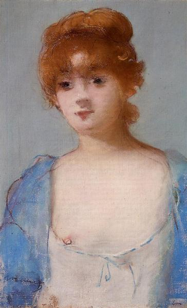 Young woman in a negligee, 1882 - Эдуард Мане