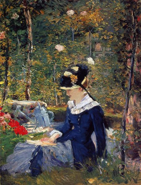 Young woman in the garden, 1880 - Edouard Manet