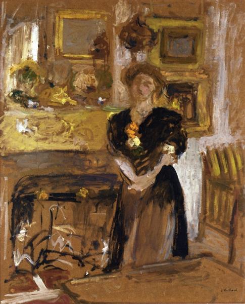 Portrait of Madame Marie des Jardins Fontaine, 1901 - Edouard Vuillard
