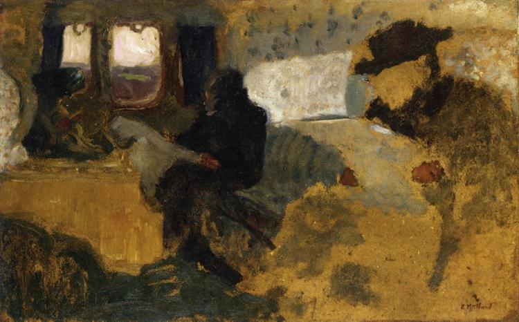The First Class Compartment, 1899 - Édouard Vuillard