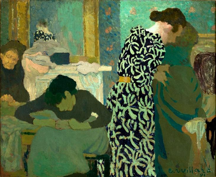 The Flowered Dress - Edouard Vuillard