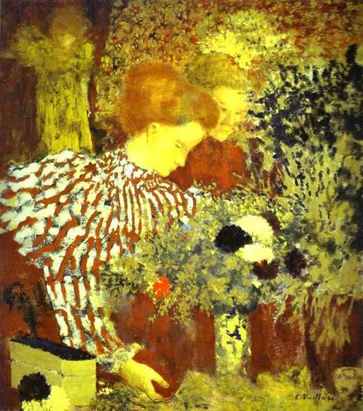 The Striped Blouse - Edouard Vuillard