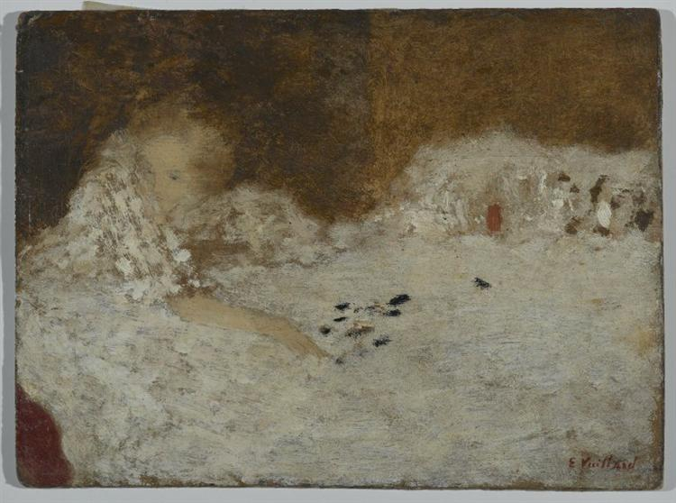 Young Woman in Bed, 1894 - Edouard Vuillard